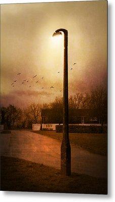 Evening Street Metal Print by Svetlana Sewell