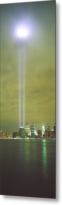 Evening, Towers Of Light, Lower Metal Print by Panoramic Images