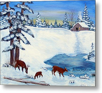 Evening Visitors Metal Print by Barbara Griffin