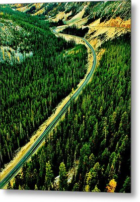 Evergreen Highway Metal Print by Benjamin Yeager