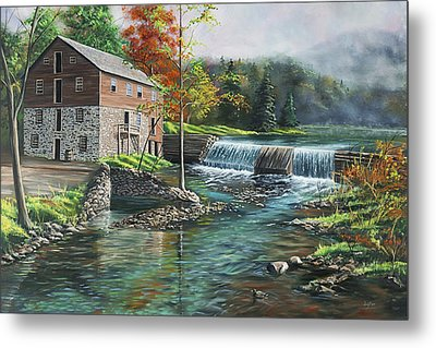 Everhart's Mill Metal Print by Christopher Lyter