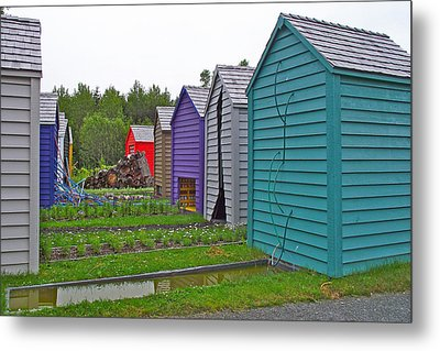 Every Garden Needs A Shed And Lawn Two In Les Jardins De Metis/reford Gardens Near Grand Metis-qc Metal Print by Ruth Hager
