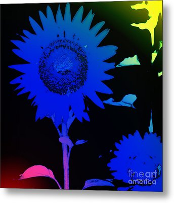 Everyday Abstract 28 Metal Print by Nancy E Stein