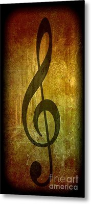 Evolution Of Music Metal Print by Michael Grubb