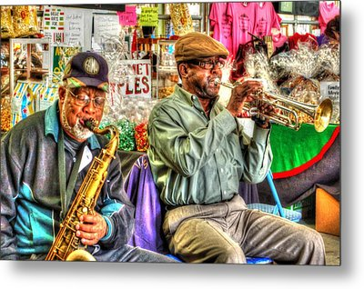 Excelsior Band Horn Players Metal Print by Michael Thomas