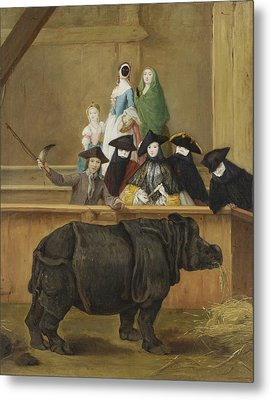 Exhibition Of A Rhinoceros At Venice Metal Print by Pietro Longhi