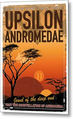Exoplanet 06 Travel Poster Upsilon Andromedae 4 Metal Print by Chungkong Art