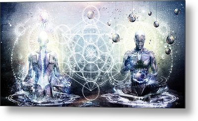 Experience So Lucid Discovery So Clear Metal Print by Cameron Gray