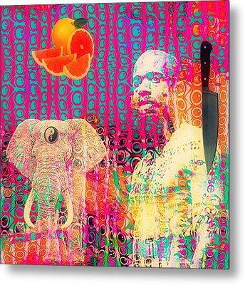 Experimental Digital Collage Metal Print by John  De Sousa