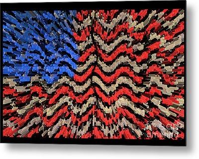 Exploding With Patriotism Metal Print by John Farnan