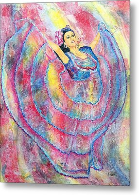 Expressing Her Passion Metal Print by Susan DeLain