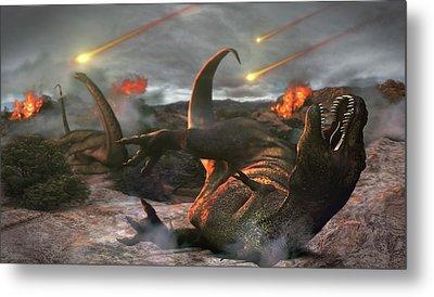 Extinction Of The Dinosaurs Metal Print by Karsten Schneider