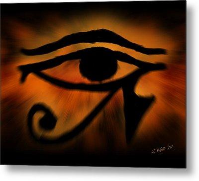 Eye Of Horus Eye Of Ra Metal Print by John Wills