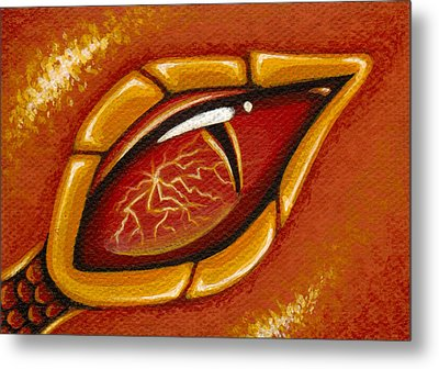 Eye Of The Fiery Lightning Dragon Metal Print by Elaina  Wagner