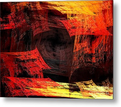 Eye Of The Storm 2 - Blown Away - Abstract - Fractal Art Metal Print by Andee Design