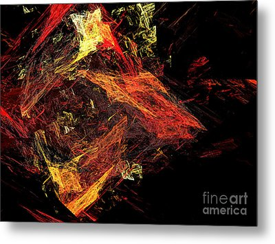 Eye Of The Storm 3 - Mass Chaos - Abstract - Fractal Art Metal Print by Andee Design