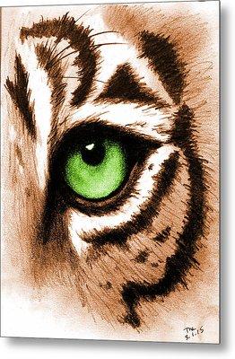 Eye Of The Tiger Metal Print by Michelle Eshleman