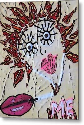 Eye Smoke Discrimination  Metal Print by Lisa Piper Menkin Stegeman