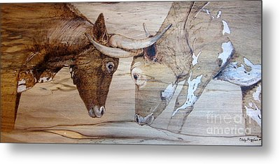 Eye To Eye Metal Print by Cindy Jo Burleson