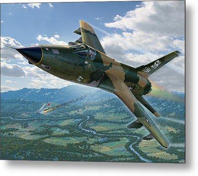 F-105d Thunderchief Mary Kay Metal Print by Stu Shepherd
