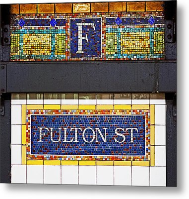 F Is For Fulton Street Metal Print by Rona Black