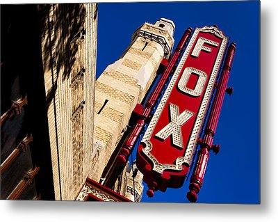 Fabulous Fox In Atlanta Metal Print by Mark E Tisdale