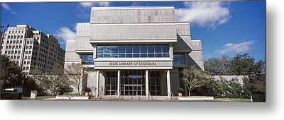 Facade Of A Library, State Library Metal Print by Panoramic Images