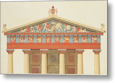 Facade Of The Temple Of Jupiter Metal Print by Daumont
