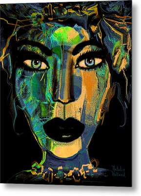 Face 16 Metal Print by Natalie Holland