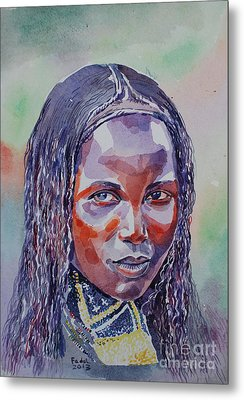 Face From Sudan  1 Metal Print by Mohamed Fadul