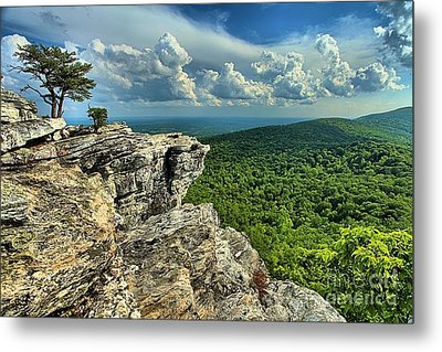 Face In The Cliff Metal Print by Adam Jewell