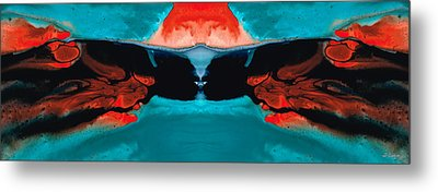 Face To Face - Abstract Art By Sharon Cummings Metal Print by Sharon Cummings