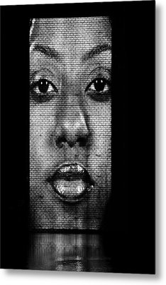 Face To Face - Crown Fountain Chicago Metal Print by Christine Till