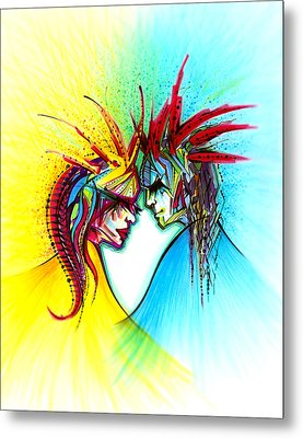 Face To Face II Metal Print by Andrea Carroll