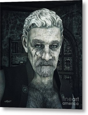 Face With A Story In It Metal Print by Jutta Maria Pusl