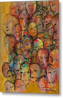Faces In The Crowd Metal Print by Larry Martin