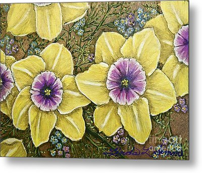 Faces Of Spring    Metal Print by Linda Simon