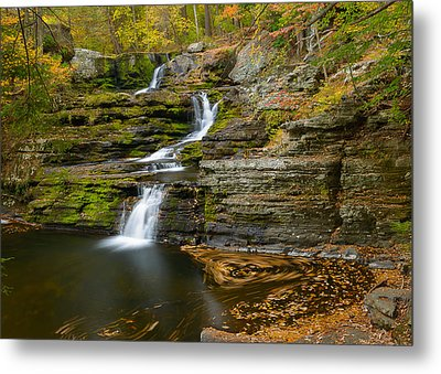 Factory Falls Metal Print by Mark Robert Rogers