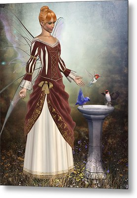 Faerie Garden Metal Print by David Griffith