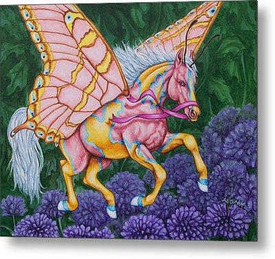 Faery Horse Hope Metal Print by Beth Clark-McDonal
