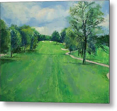 Fairway To The 11th Hole Metal Print by Michael Creese