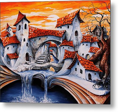 Fairy Tale City - Magic Stream Metal Print by Emerico Imre Toth