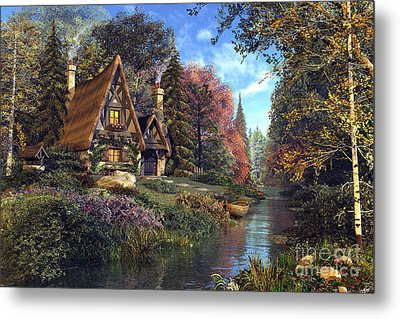 Fairytale Cottage Metal Print by Dominic Davison