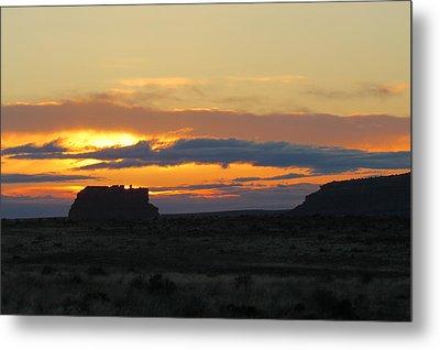 Fajada Butte At Sunrise Metal Print by Feva  Fotos