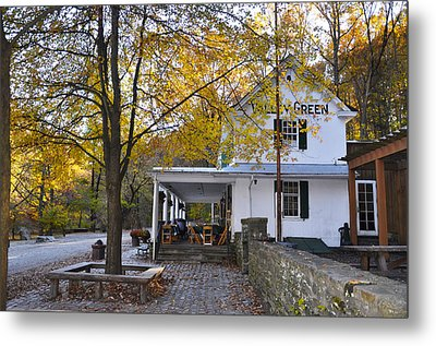 Fall Along Forbidden Drive - Valley Green Metal Print by Bill Cannon