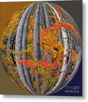 Fall Art Nouveau Metal Print by Scott Cameron