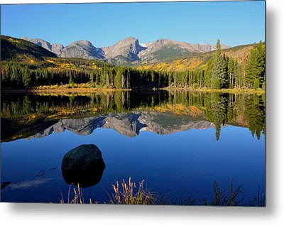 Fall At Sprague Lake Metal Print by Tranquil Light  Photography