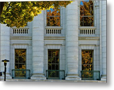Fall At The Capitol Metal Print by Christi Kraft