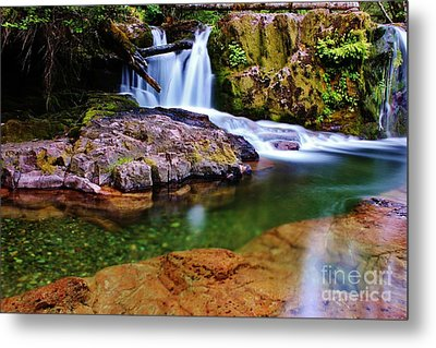 Fall Creek Oregon Metal Print by Michael Cross