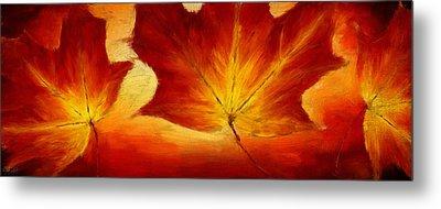 Fall Foliage Metal Print by Lourry Legarde